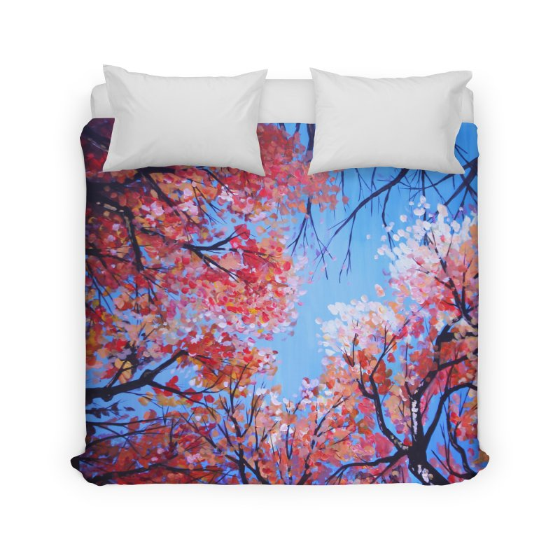 Under the fall trees Home Duvet by Alecs' Shop