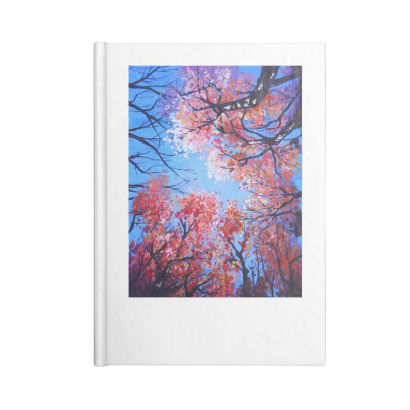 Under the fall trees Accessories Lined Journal Notebook by Alecs' Shop