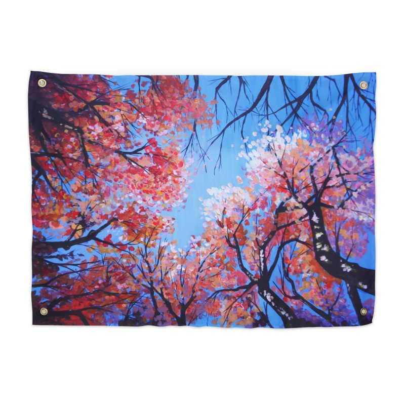 Under the fall trees Home Tapestry by Alecs' Shop