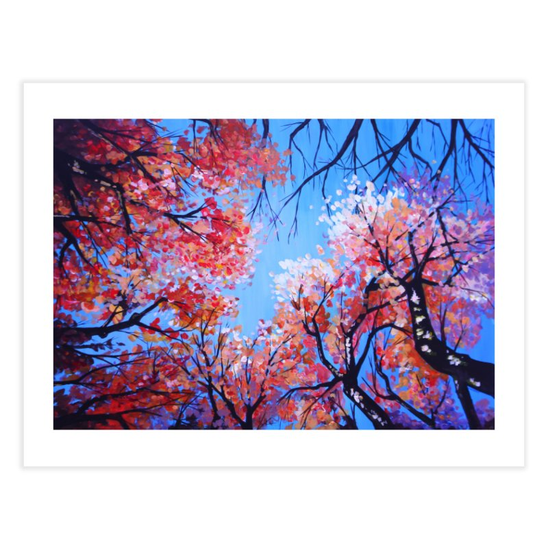 Under the fall trees Home Fine Art Print by Alecs' Shop
