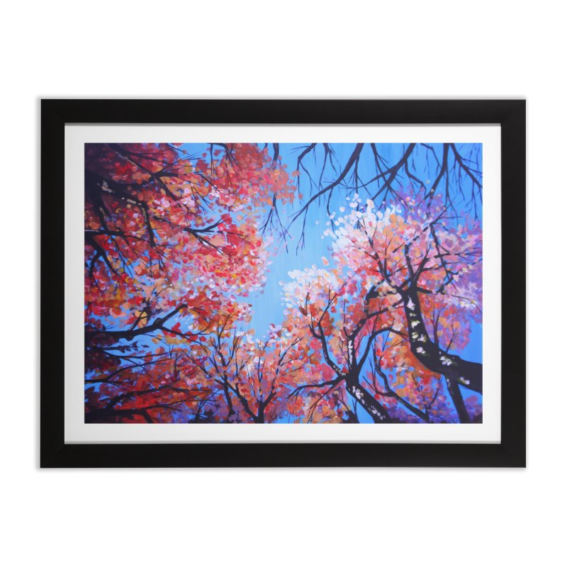 Under the fall trees Home Framed Fine Art Print by Alecs' Shop