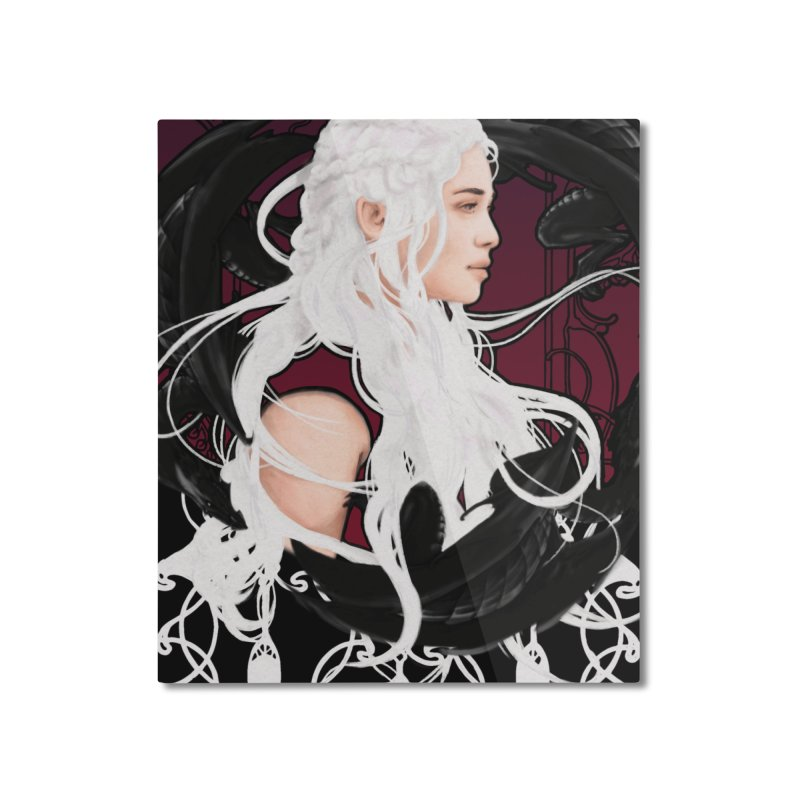 Daenerys Home Mounted Aluminum Print by Alecs' Shop