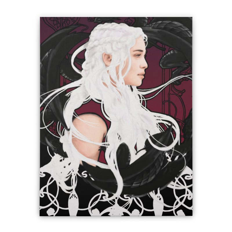 Daenerys Home Stretched Canvas by Alecs' Shop