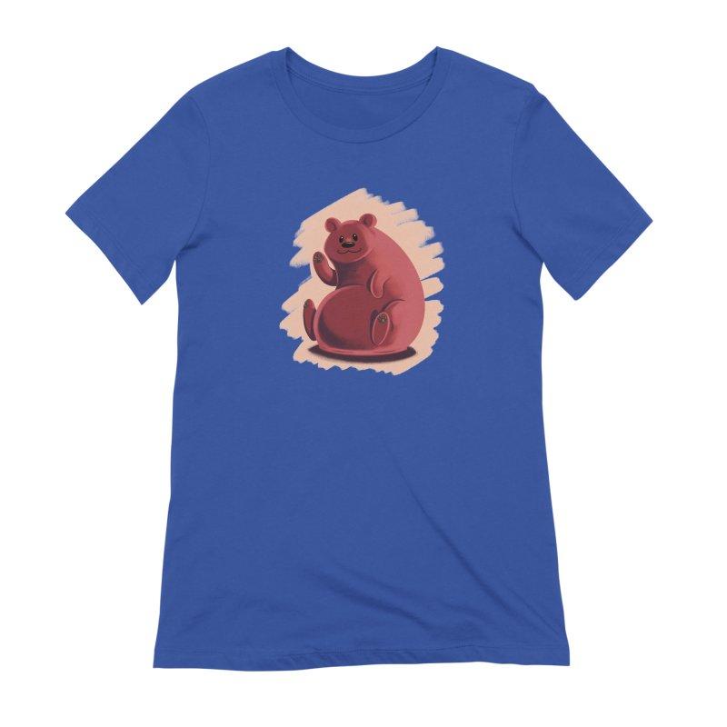 Happy bear Women's T-Shirt by Birgitte Johnsen's Artist Shop