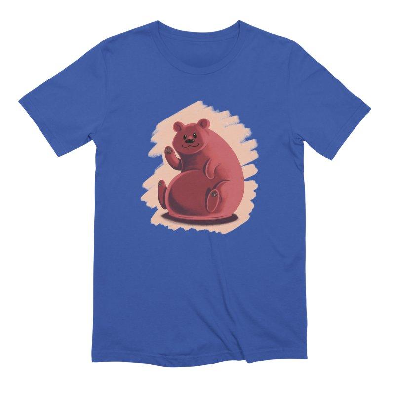 Happy bear Men's Extra Soft T-Shirt by Birgitte Johnsen's Artist Shop
