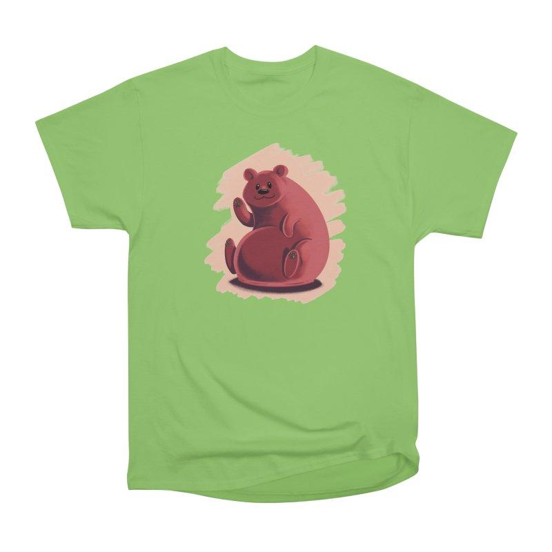 Happy bear Men's Heavyweight T-Shirt by Birgitte Johnsen's Artist Shop