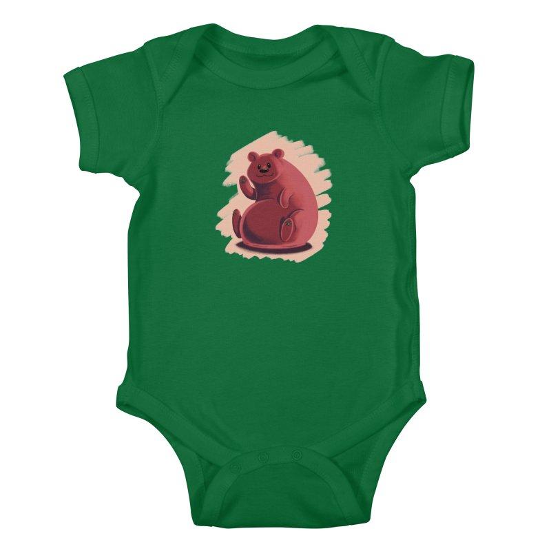 Happy bear Kids Baby Bodysuit by Birgitte Johnsen's Artist Shop