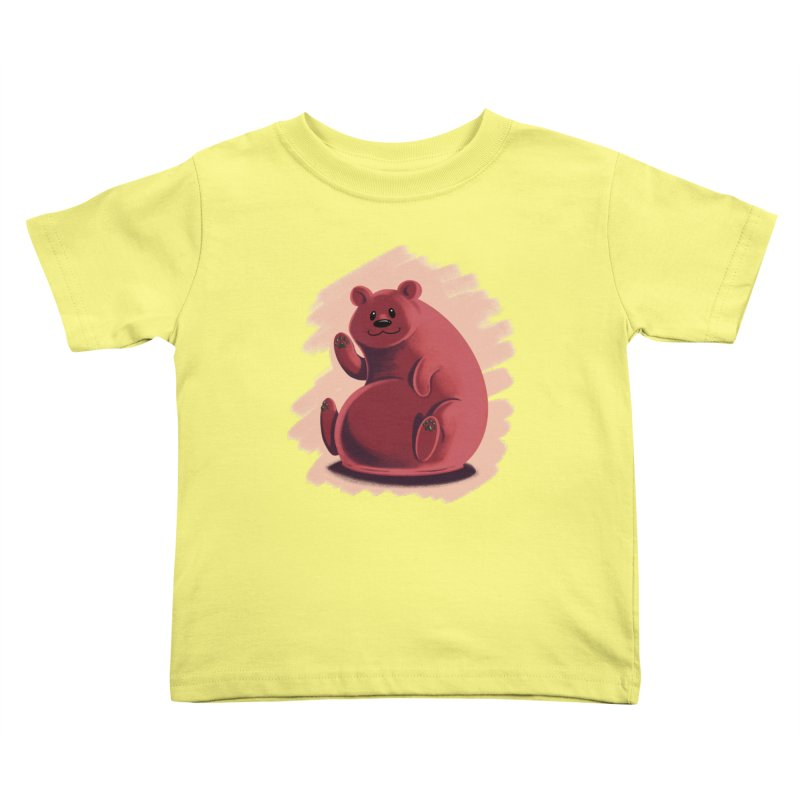 Happy bear Kids Toddler T-Shirt by Birgitte Johnsen's Artist Shop