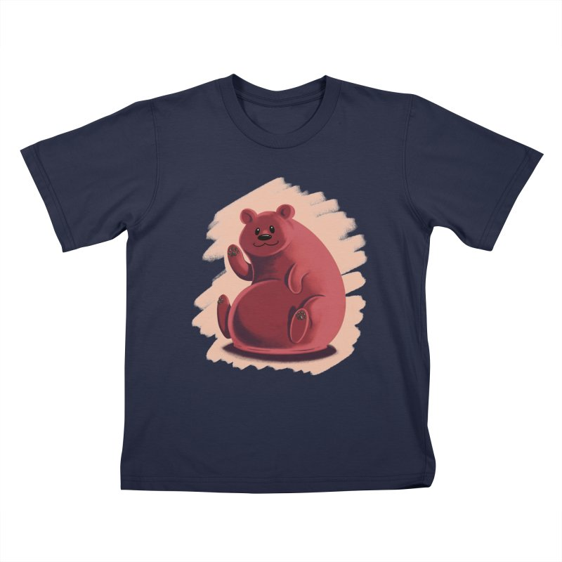 Happy bear Kids T-Shirt by Birgitte Johnsen's Artist Shop