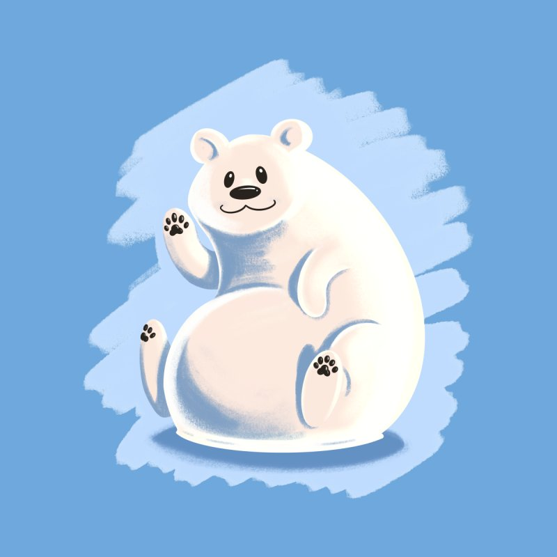 Happy polar bear Women's T-Shirt by Birgitte Johnsen's Artist Shop