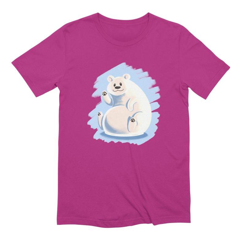 Happy polar bear Men's Extra Soft T-Shirt by Birgitte Johnsen's Artist Shop