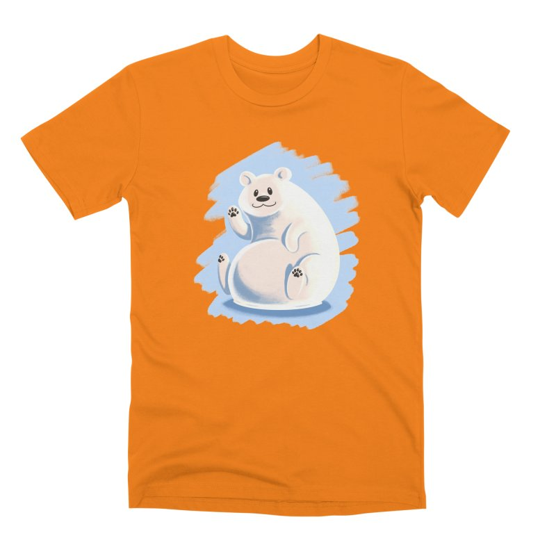 Happy polar bear Men's Premium T-Shirt by Birgitte Johnsen's Artist Shop