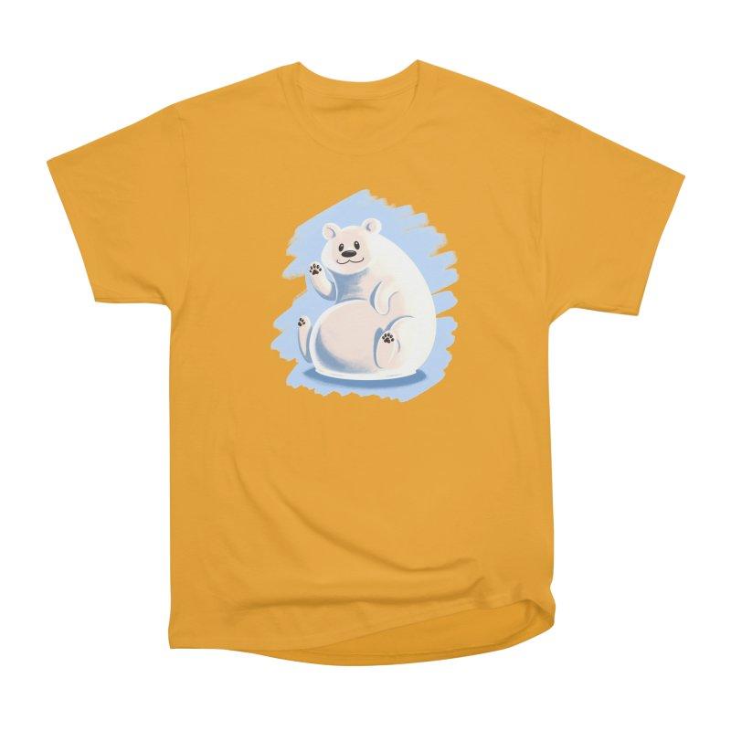 Happy polar bear Men's Heavyweight T-Shirt by Birgitte Johnsen's Artist Shop