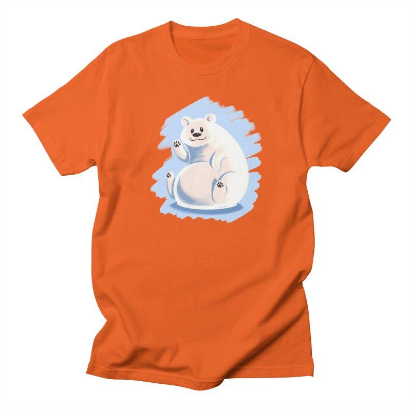 Happy polar bear Men's Regular T-Shirt by Birgitte Johnsen's Artist Shop