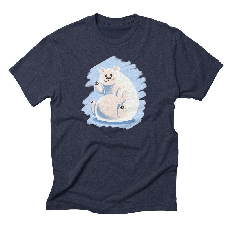 Happy polar bear Men's Triblend T-Shirt by Birgitte Johnsen's Artist Shop