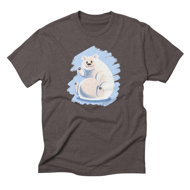 Happy polar bear Men's T-Shirt by Birgitte Johnsen's Artist Shop
