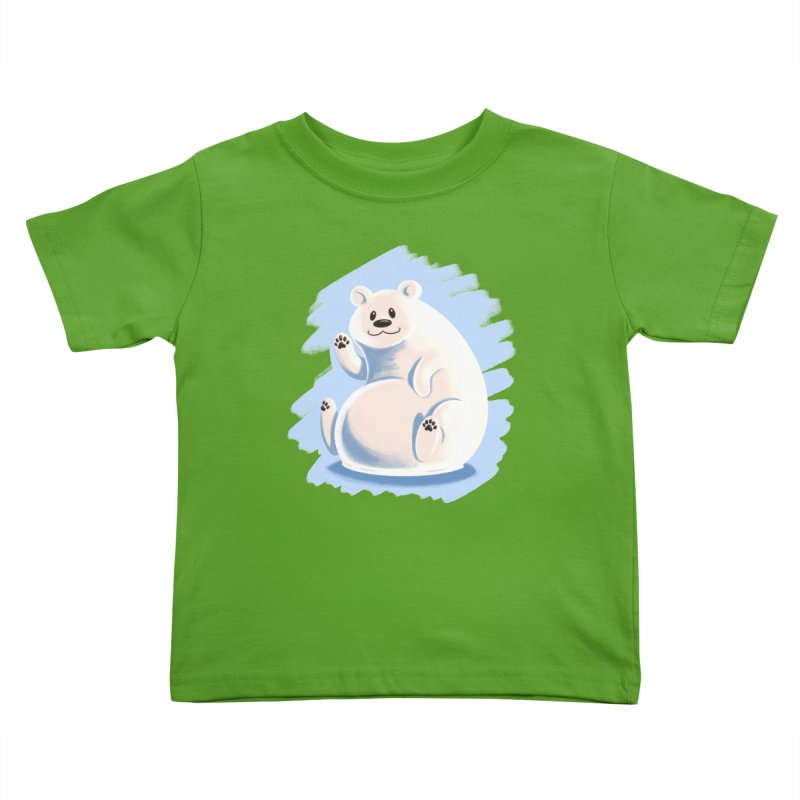 Happy polar bear Kids Toddler T-Shirt by Birgitte Johnsen's Artist Shop