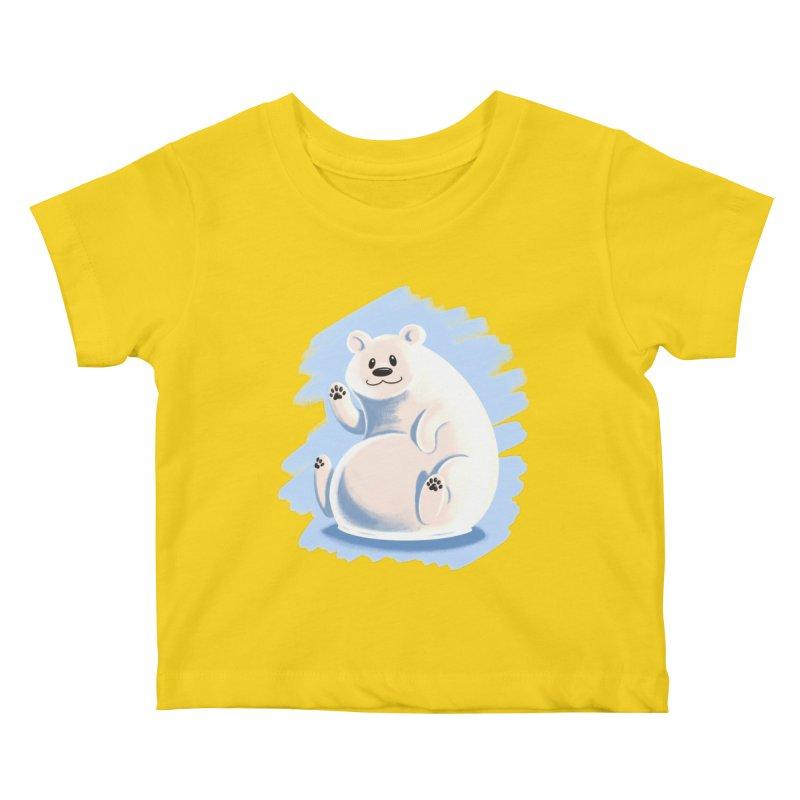 Happy polar bear Kids Baby T-Shirt by Birgitte Johnsen's Artist Shop