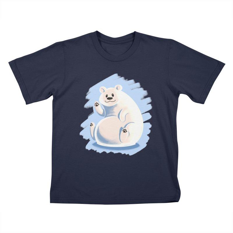 Happy polar bear Kids T-Shirt by Birgitte Johnsen's Artist Shop