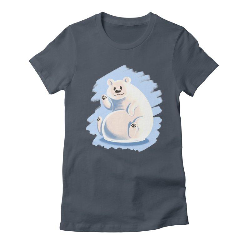 Happy polar bear Women's T-Shirt by Birgitte Johnsen's Artist Shop
