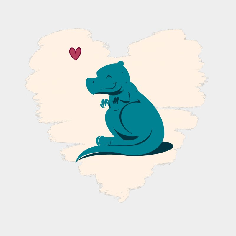 Tiny dino loves you Kids T-Shirt by Birgitte Johnsen's Artist Shop