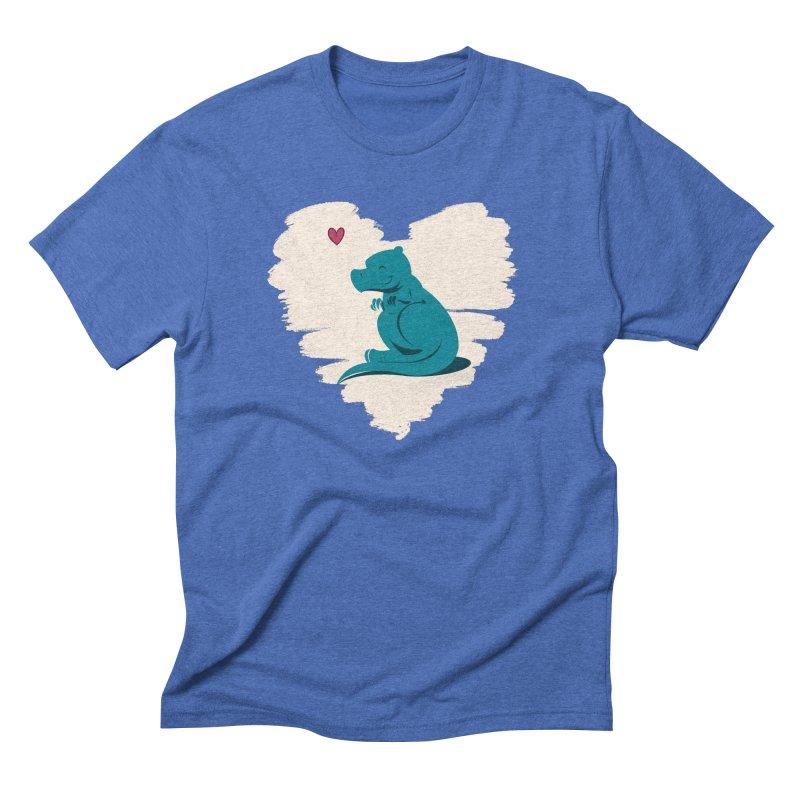 Tiny dino loves you Men's T-Shirt by Birgitte Johnsen's Artist Shop