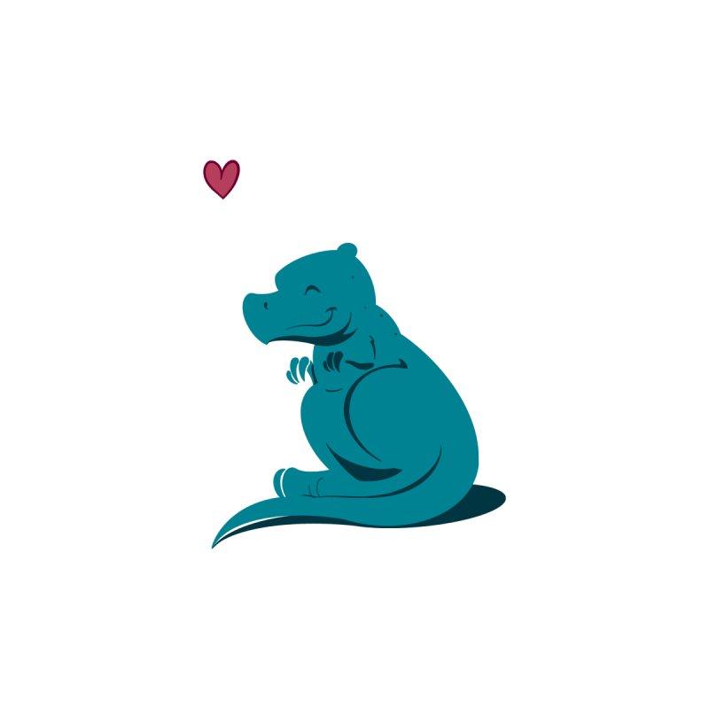 Tiny dino loves you by Birgitte Johnsen's Artist Shop