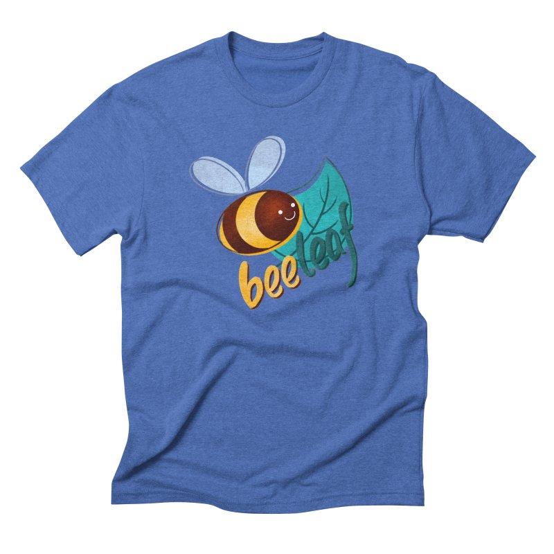 Bee leaf (belief) Men's Triblend T-Shirt by Birgitte Johnsen's Artist Shop