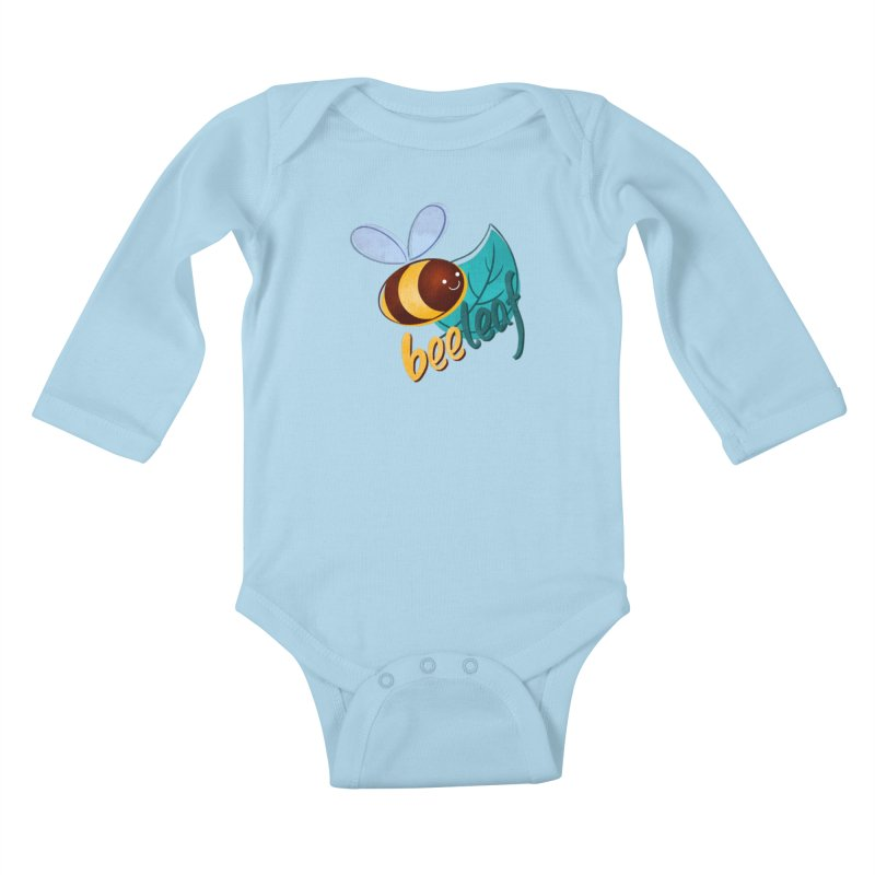 Bee leaf (belief) Kids Baby Longsleeve Bodysuit by Birgitte Johnsen's Artist Shop