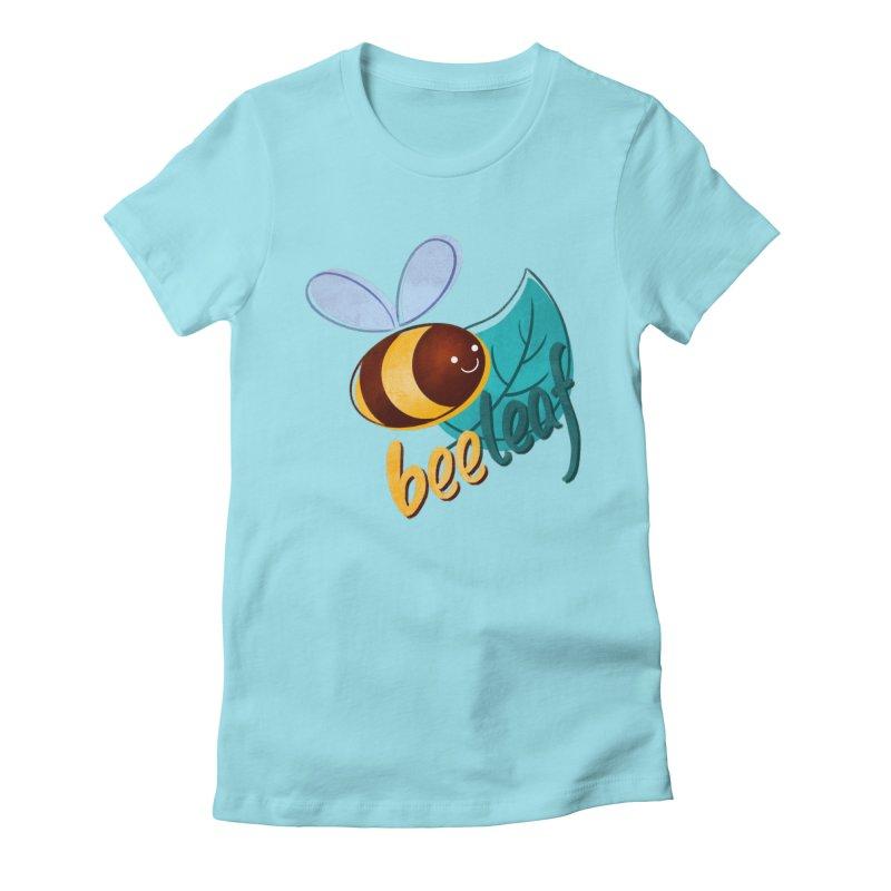 Bee leaf (belief) Women's Fitted T-Shirt by Birgitte Johnsen's Artist Shop