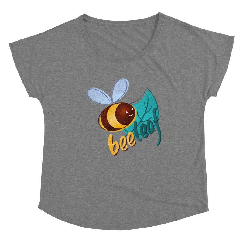 Bee leaf (belief) Women's Scoop Neck by Birgitte Johnsen's Artist Shop