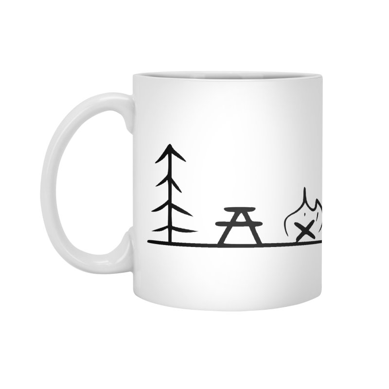 Simple Camping Accessories Standard Mug by iamcoreykeller's Artist Shop