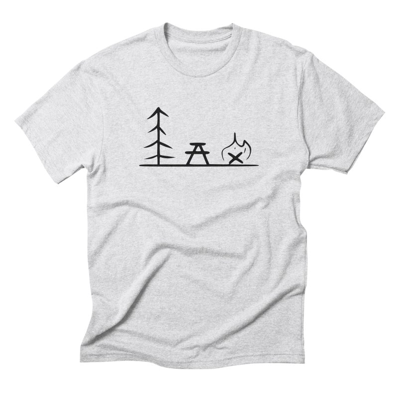 Simple Camping in Men's Triblend T-Shirt Heather White by iamcoreykeller's Artist Shop