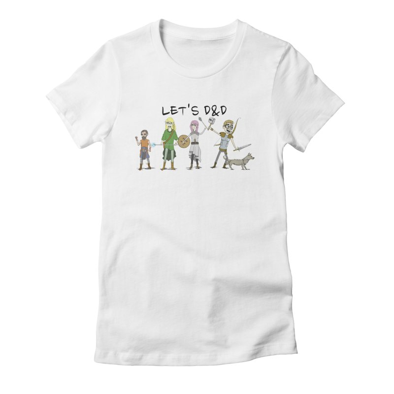 Let's D&D Women's Fitted T-Shirt by iamcoreykeller's Artist Shop