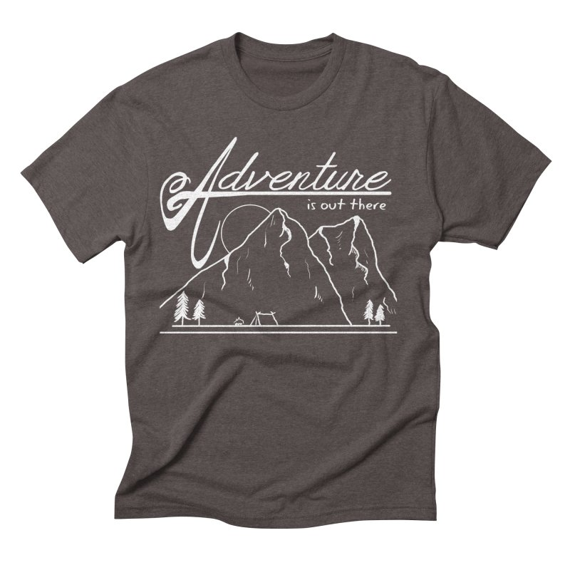 Adventure is Out There in Men's Triblend T-Shirt Tri-Coffee by iamcoreykeller's Artist Shop