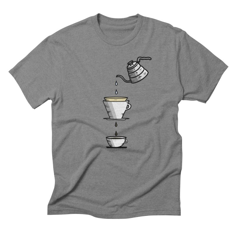 Coffee Lover in Men's Triblend T-Shirt Grey Triblend by iamcoreykeller's Artist Shop