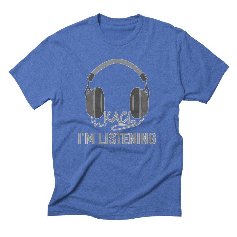 Frasier Tribute - KACL in Men's Triblend T-Shirt Blue Triblend by iamcoreykeller's Artist Shop