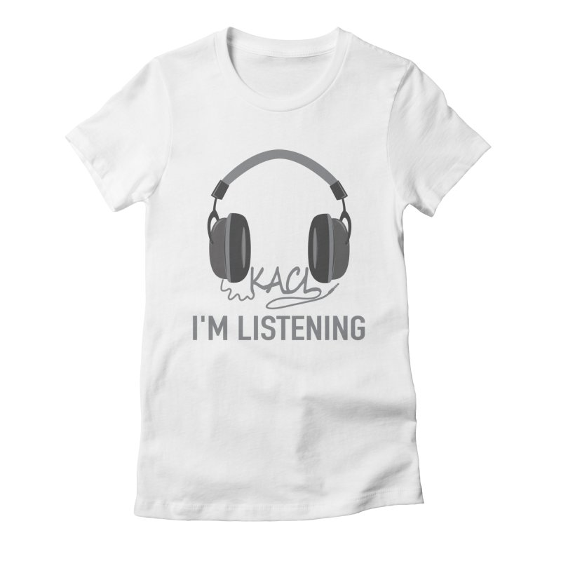 Frasier Tribute - KACL Women's Fitted T-Shirt by iamcoreykeller's Artist Shop