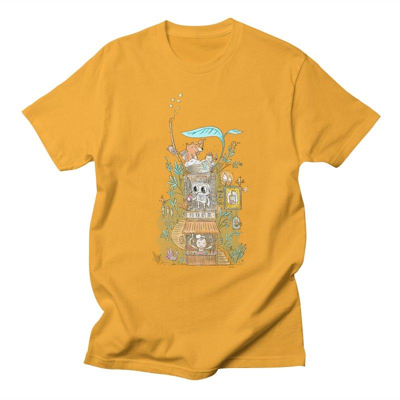 Mr Bui's Bubble Tea Bathhouse Men's T-Shirt by Habuki Artist Shop