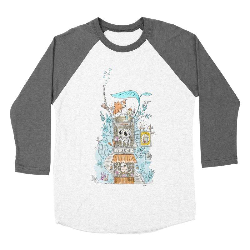 Mr Bui's Bubble Tea Bathhouse Women's Baseball Triblend T-Shirt by Habuki Artist Shop