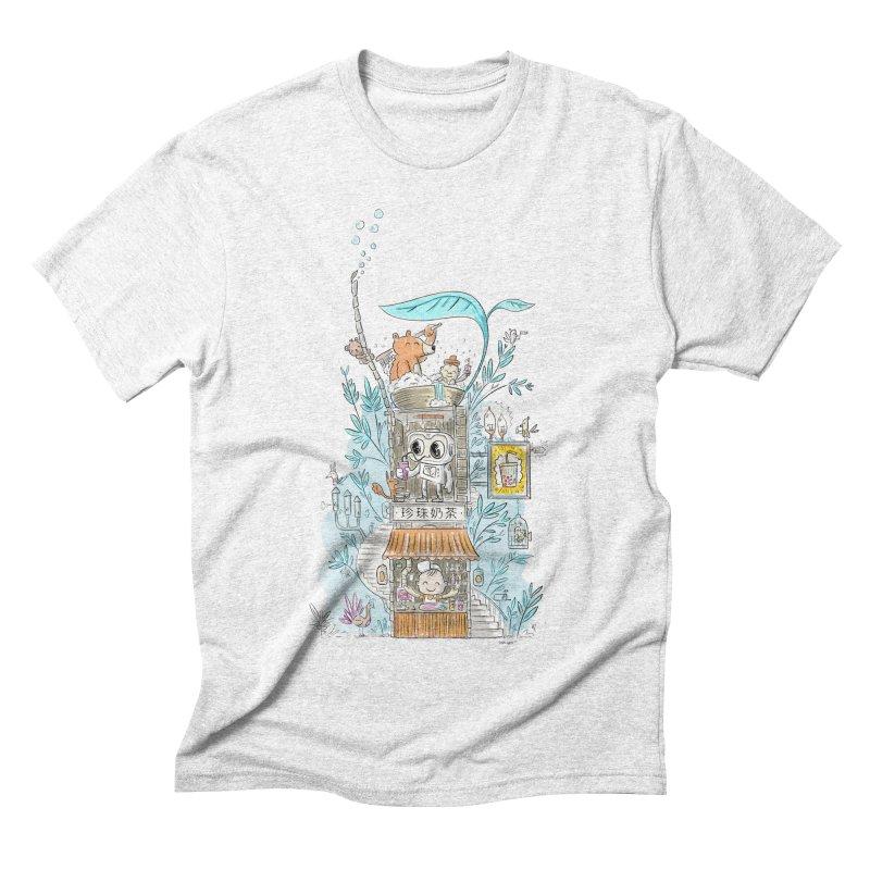 Mr Bui's Bubble Tea Bathhouse Men's Triblend T-shirt by Habuki Artist Shop
