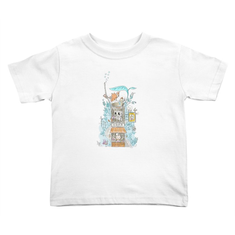 Mr Bui's Bubble Tea Bathhouse Kids Toddler T-Shirt by Habuki Artist Shop