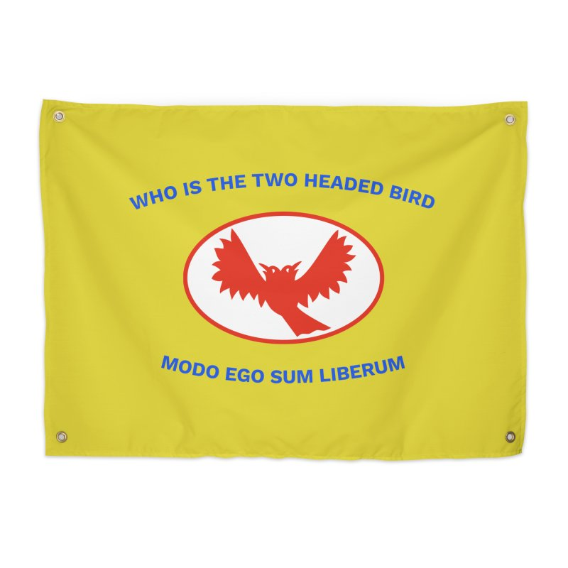The Bird Question Flag | Who is the two headed bird? Home Tapestry by MarcusFartist | Art POD Factory