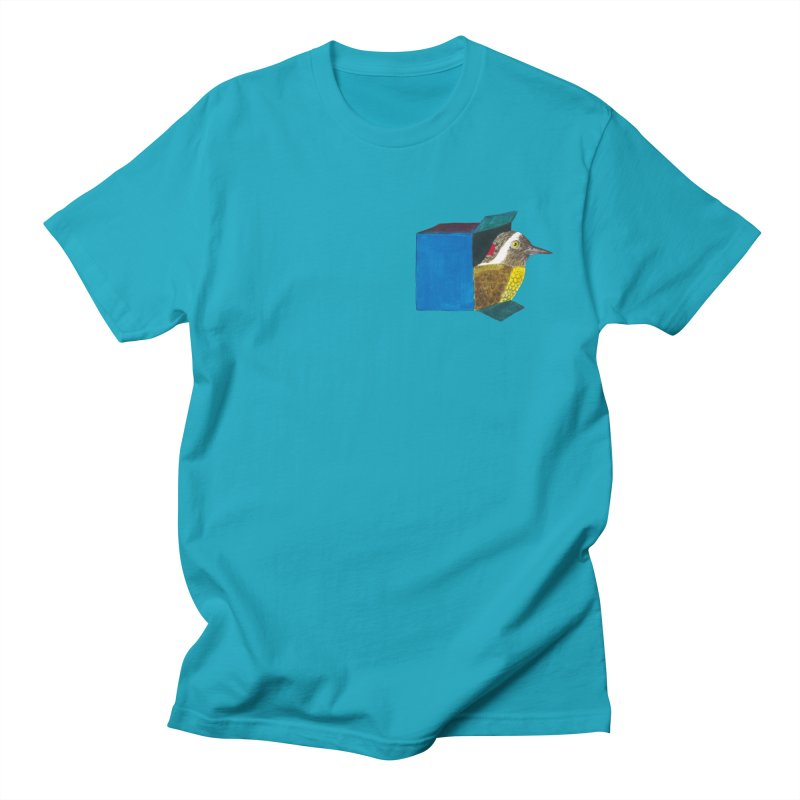 Bird in a Box | how did he get there? Women's T-Shirt by MarcusFartist | Art POD Factory