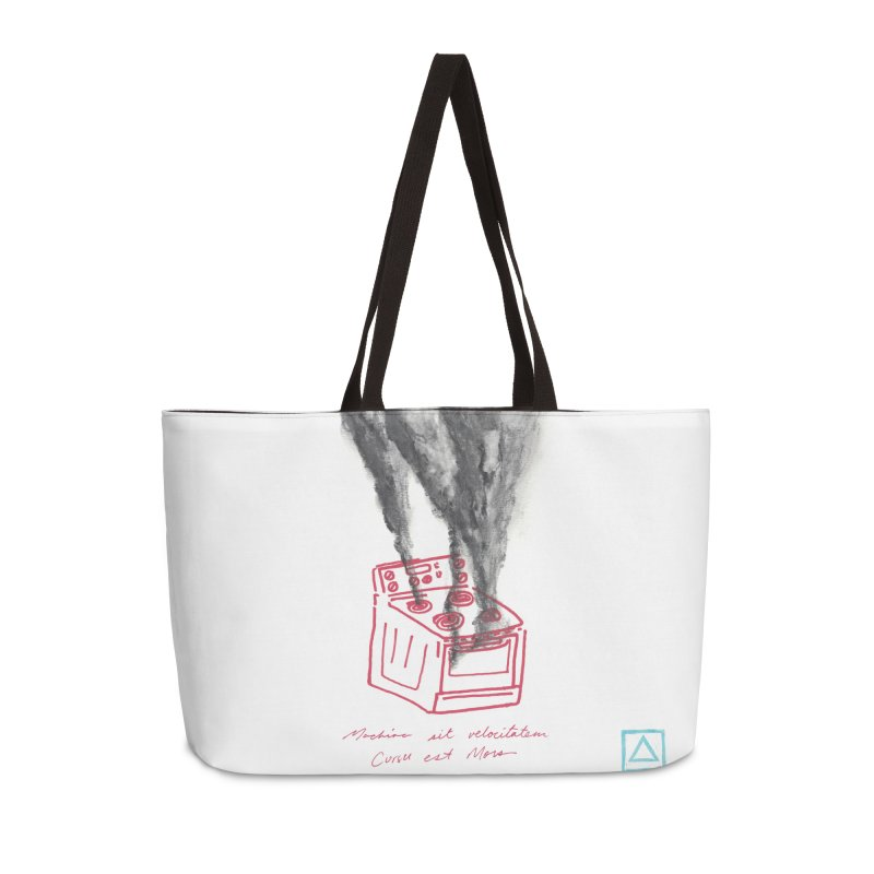 Oven Gas Fire | is something burning? Accessories Weekender Bag Bag by MarcusFartist | Art POD Factory