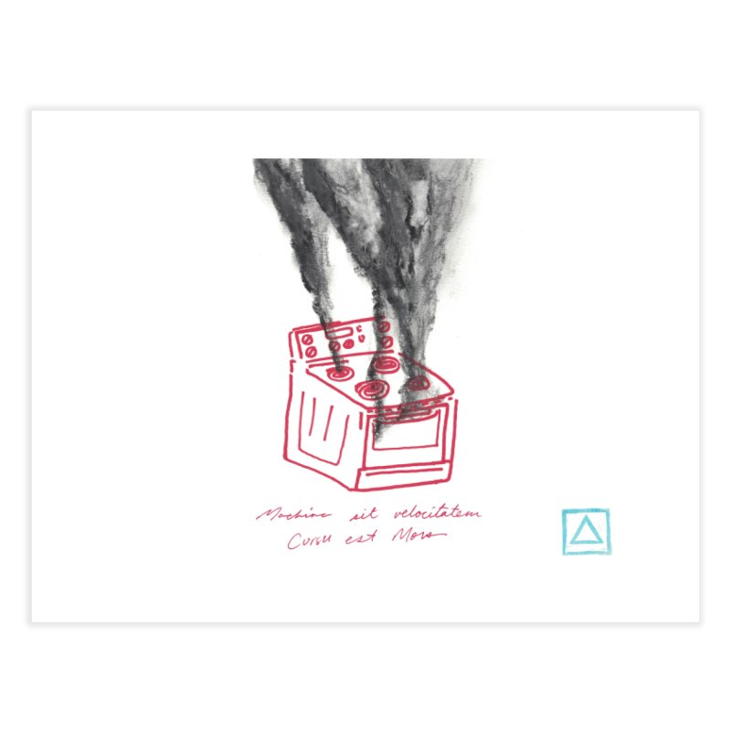 Oven Gas Fire | is something burning? Home Fine Art Print by MarcusFartist | Art POD Factory