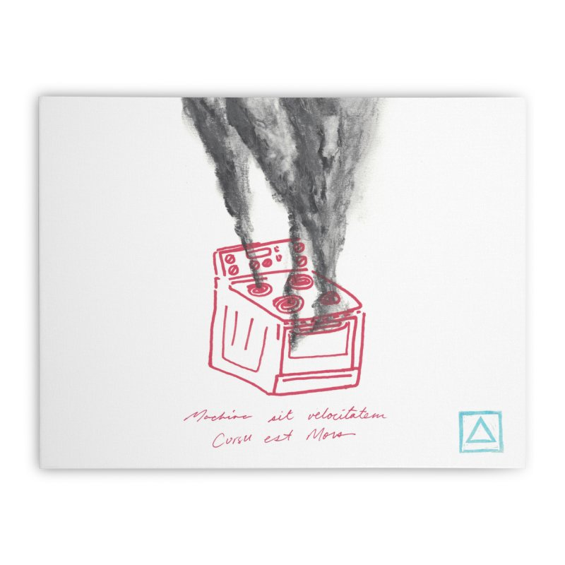 Oven Gas Fire | is something burning? Home Stretched Canvas by MarcusFartist | Art POD Factory