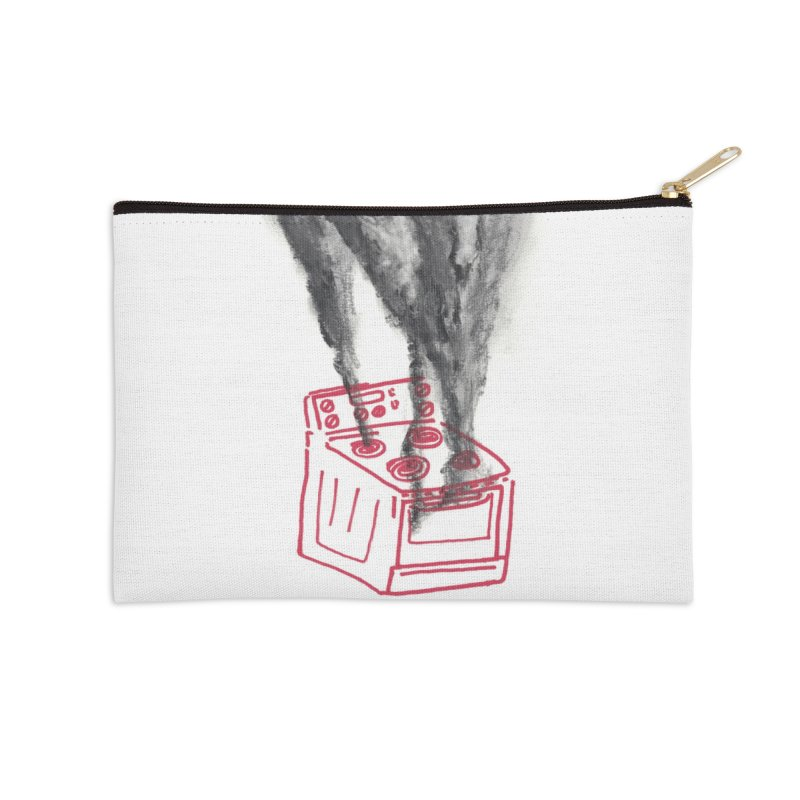 Oven Gas Fire   is something burning? Accessories Zip Pouch by MarcusFartist   Art POD Factory