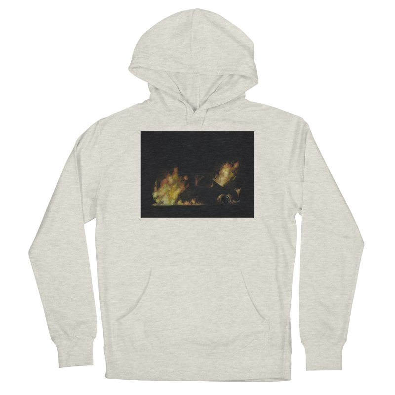 Car Fire at Night | who set this car on fire? Men's Pullover Hoody by MarcusFartist | Art POD Factory