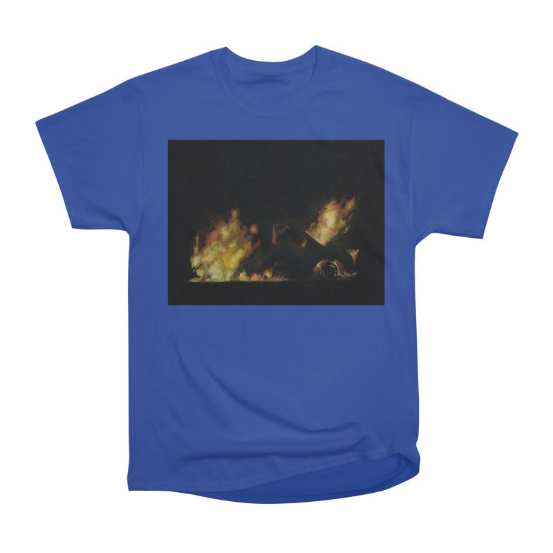 Car Fire at Night | who set this car on fire? Women's T-Shirt by MarcusFartist | Art POD Factory